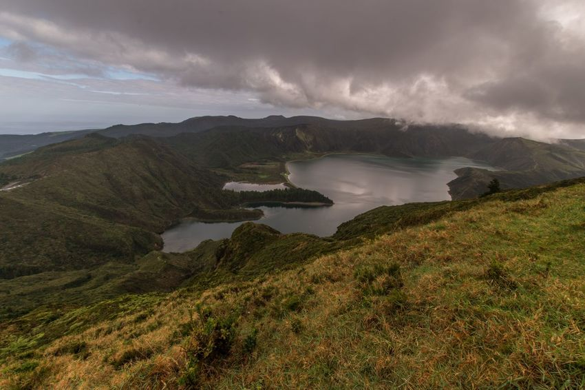 Portugal Azores Lagoa Do Fogo EyeEm Selects EyeEm Gallery EyeEm Nature Lover EyeEm Best Shots Nature Beauty In Nature Sky Landscape Mountain No People Outdoors Scenics Water Grass Day