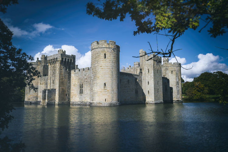 Bodiam Castle, England Castle East Sussex Architecture Bodiam Building Exterior Built Structure Cloud - Sky England Historic History Medieval Moat Tree Uk