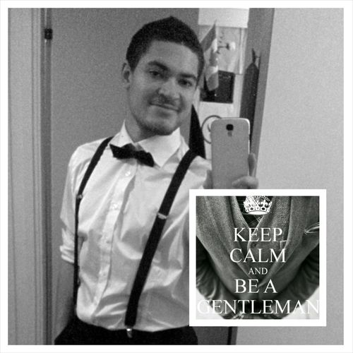 KeepCalmAnd be a Gentleman  Selfie People