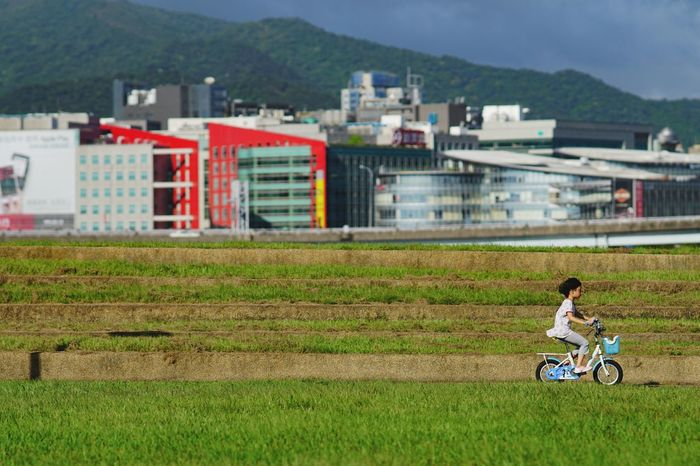 Hard life Grass Day Outdoors Sky Bicycle Live Taking Photos Color Of Life Hard Life Life In Motion GrowingUp Find My Own Way See What I See Great Day  Go Life Lifestyles Life Is Beautiful Childhood Taipei Just Do It Moments Of My Life @ 私の人生の瞬間。 Childhood Memories Chlidhood Taiwan