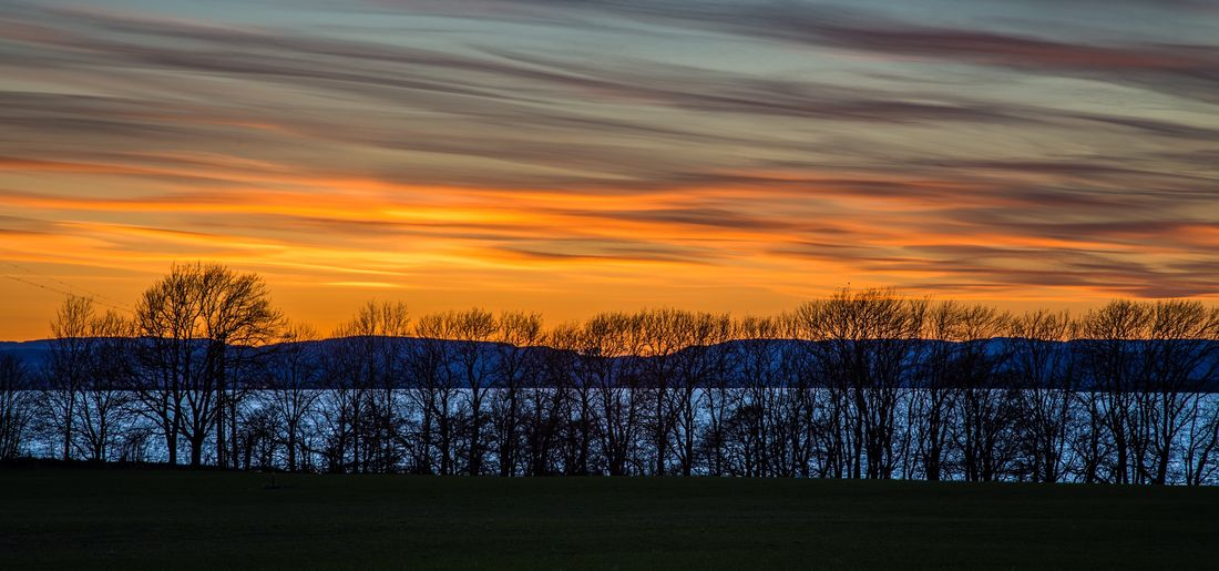 Scenics Sunset Tranquil Scene Tranquility Sky Cloud - Sky Outdoors Norway Golden Hour Moss Moss Norway Colorful Sky
