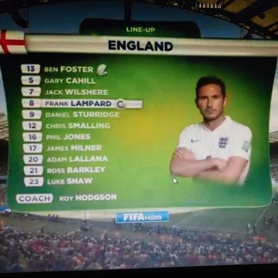 First and last time for Lampard as Captain in World Cup match Lampard England Worldcup Captain football hkig 2014 林柏特 英格蘭 世界盃 @england