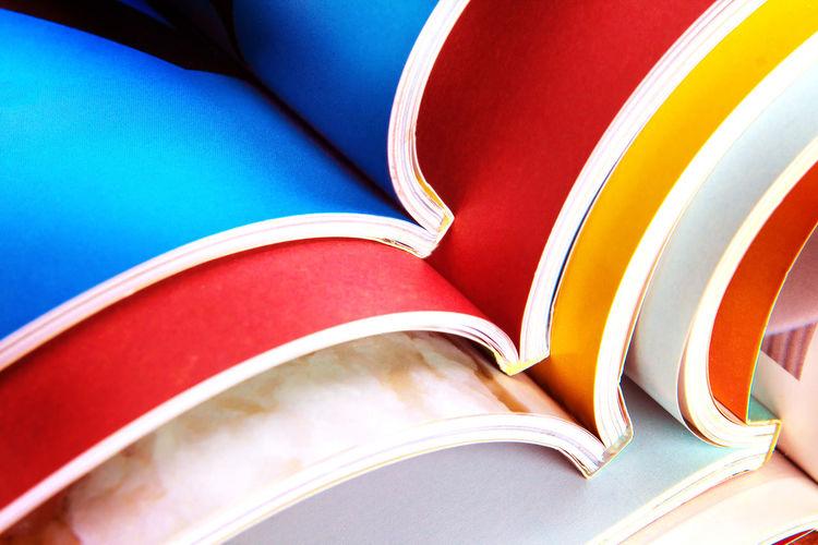 Full frame shot of colorful books