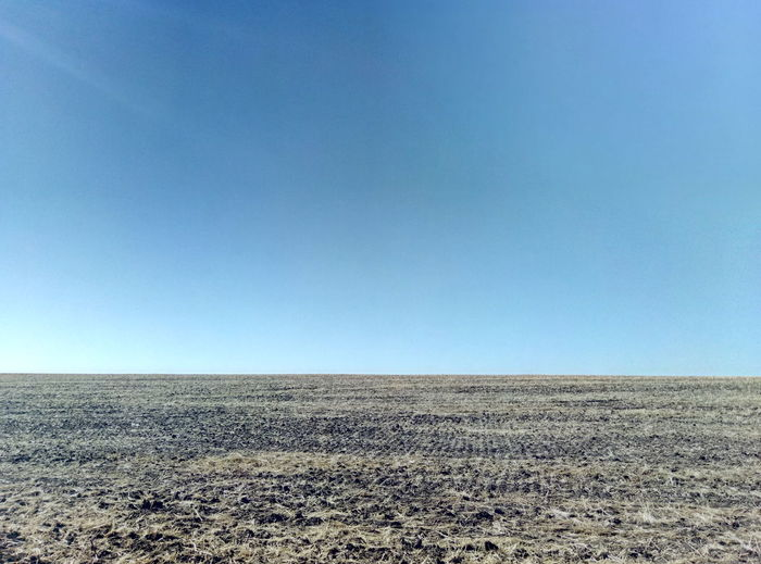 Just nothing redundant Minimalistic Landscape Clear Sky Nature Outdoors Scenics Day Sand Arid Climate Blue Tranquility Desert Sky Beauty In Nature Agriculture Sand Dune Rural Scene No People Steppe Geometric
