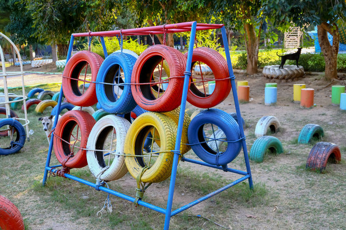 Day No People Outdoor Play Equipment Outdoors Playground Playground Equipment Tire