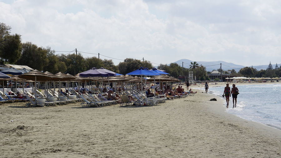 Sky Beach Group Of People Land Men Cloud - Sky Sand Adult Real People Lifestyles Nature Walking People Women Leisure Activity Day Water Crowd Holiday Outdoors GREECE ♥♥ Greek Islands Naxos