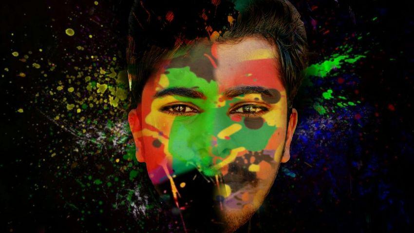 Joe Creativity Multi Colored Colour Splash. Facial Expression Picsart My Editing  Face