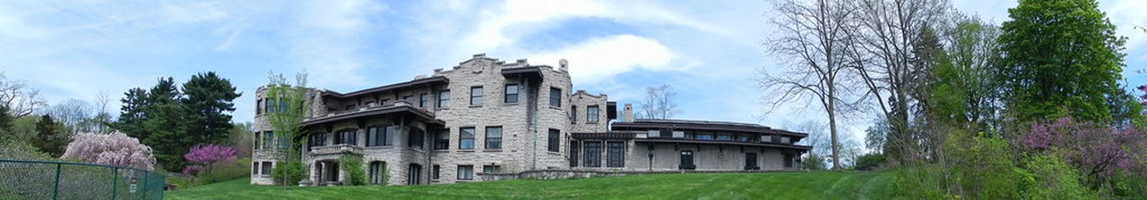 Henry Ford Estate Panoramic Architecture Building Exterior Cloud - Sky Day Estate Henry Ford Historic Home Lawn Mansion No People Outdoors Sky Travel Destinations Tree The Architect - 2016 EyeEm Awards Henry Ford Estate Dearborn Michigan Mansion House House Stone Work Stone House Architectural Detail Beautiful