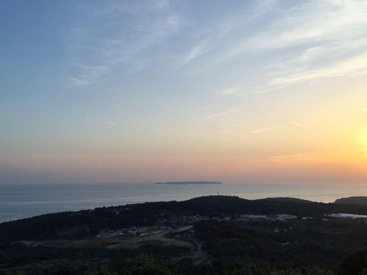 Island of Susak, Croatia, 2015. Croatia Susak Island Sunset Sunset Landscape Sunshine Coastline Coast Sea Water Adriatic Sea Adriatic Mediterranean  Far Far Away Calming Views Colorful Distant View Enjoying The Sun Sky And Sea Found On The Roll