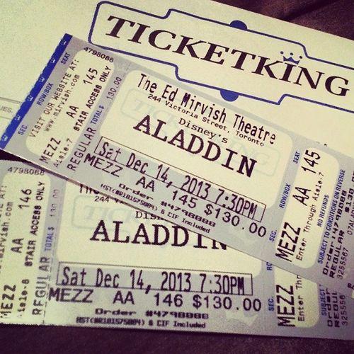 Aladdin Tomorrow! Excited Pumped Disneylover Liveshows Ticketking Edmirvishtheatre Downtowntoronto Toronto Torontopremiere Musicals Cultural Broadway