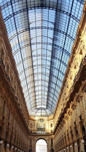 Galleria Vittorio Emanuele Duomo Di Milano Milano Sky Sun Afternoon Springtime Architecture
