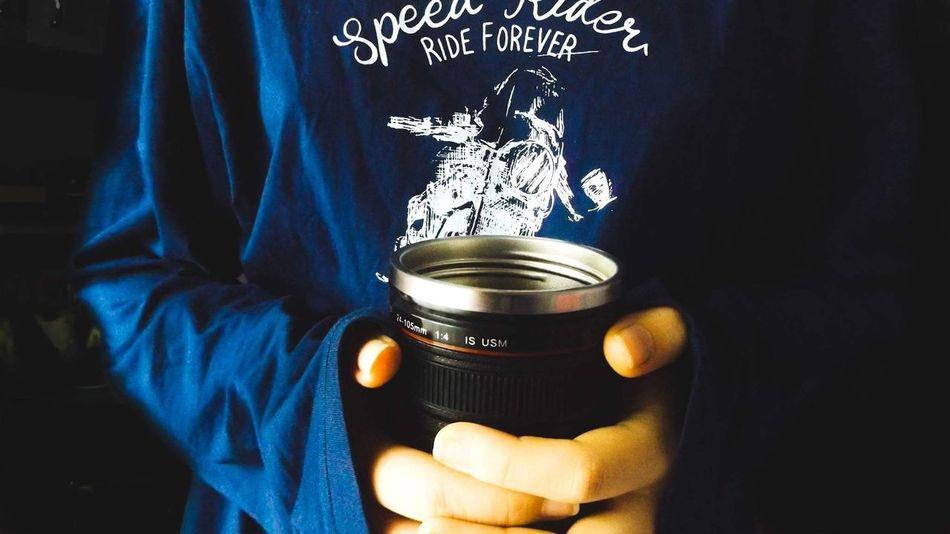 Morning,everyone Indoors  Close-up Technology Day Lens Camera Morning Pijamas Coffee Blue Riders Bikers