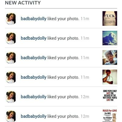 Thanks 4 the love @badbabydolly