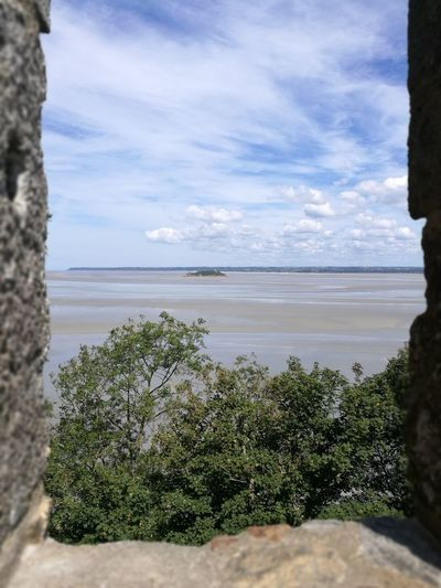 Mont St. Michel Beach Water Nature Horizon Over Water Outdoors Beauty In Nature Landscape No People Idyllic Day Sunlight Island Middleofnowhere France Leica Lens HuaweiP9plus