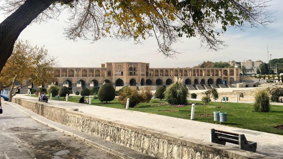 Travel Destinations History Built Structure City Architecture Islamic Art Islamic Architecture Islamicarchitecture Iranian Architecture Iran Historical Building Masterpiece Isfahan Khaju Bridge Safavid Day Bridge