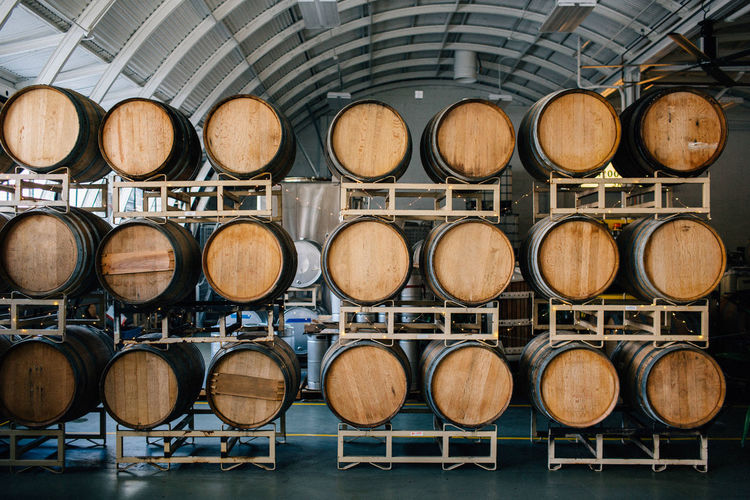 Barrels in factory