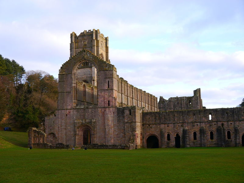 Ancient Ancient Civilization Architecture Building Exterior Built Structure Cloud - Sky Day December December 2016 Fountains Abbey Fountains Abbey Yorkshire Fountains Abbey, Yorkshire Grass History No People Old Ruin Outdoors Sky The Past Travel Destinations