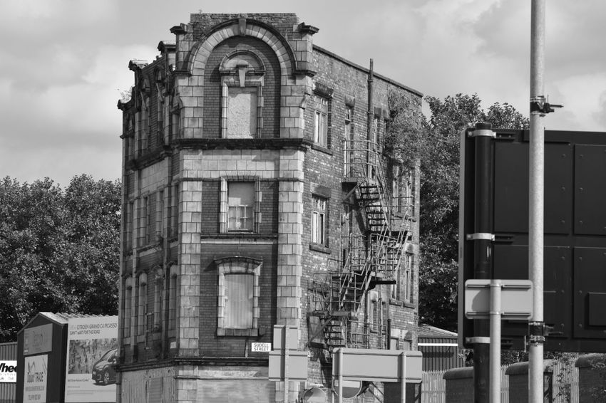 Architecture Building Exterior Derelict No Filter, No Edit, Just Photography No People Day Blackandwhite Beauty In Decay All My Own Work Façade City Life Outdoors