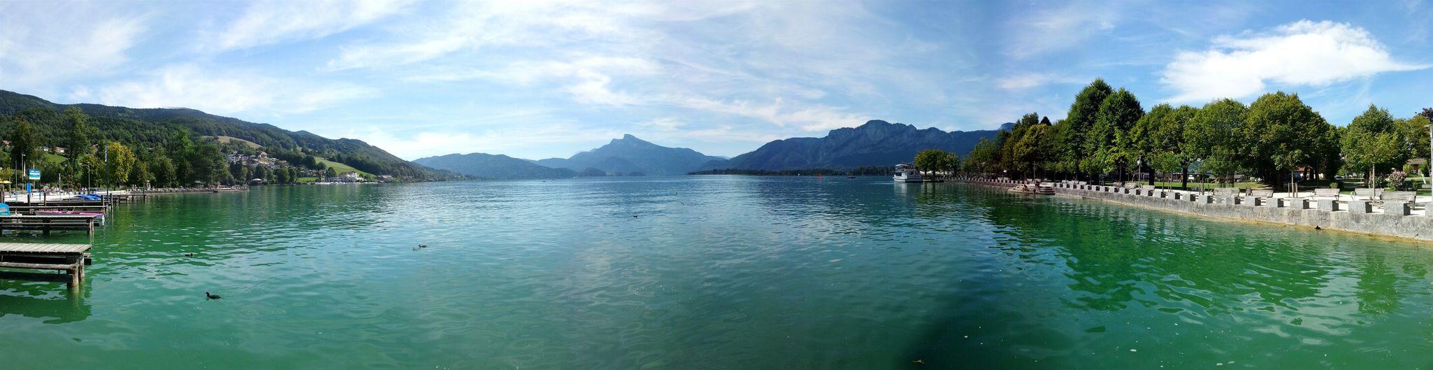Mondsee Panorama Lake View
