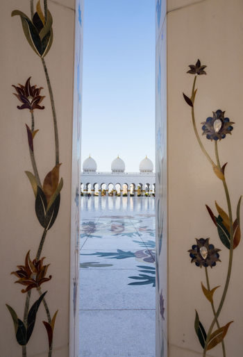 Sheikh Zayed Mosque Abu Dhabi Abu Dhabi Architecture Beauty In Nature Clear Sky Close-up Day Flower Indoors  Luxury Luxury Hotel Mosque Nature No People Palm Tree Sea Sheik Zayed Mosque Sky