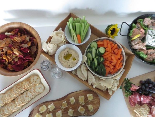 Healthy party food laid out on buffet table Aerial View Celebration Party Display Food Food And Drink Food Photography Fresh Healthy Eating Indoors  No People Ready-to-eat