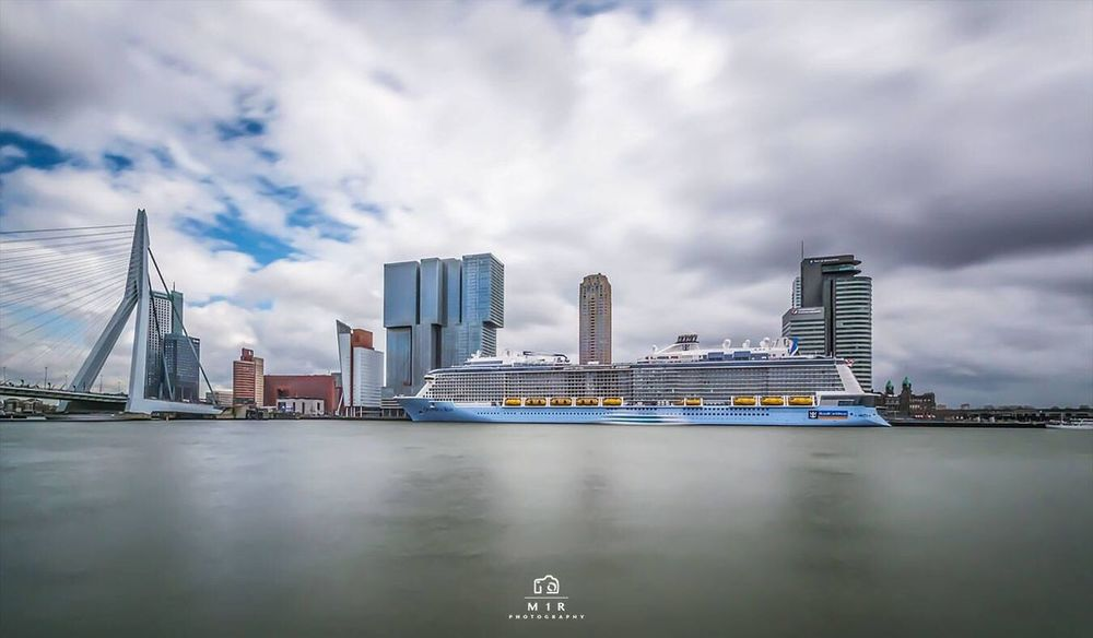 Rotterdam Ovationoftheseas Ship Composition Cityscapes City Holland Long Exposure Exposure Clouds Clouds And Sky Skyporn