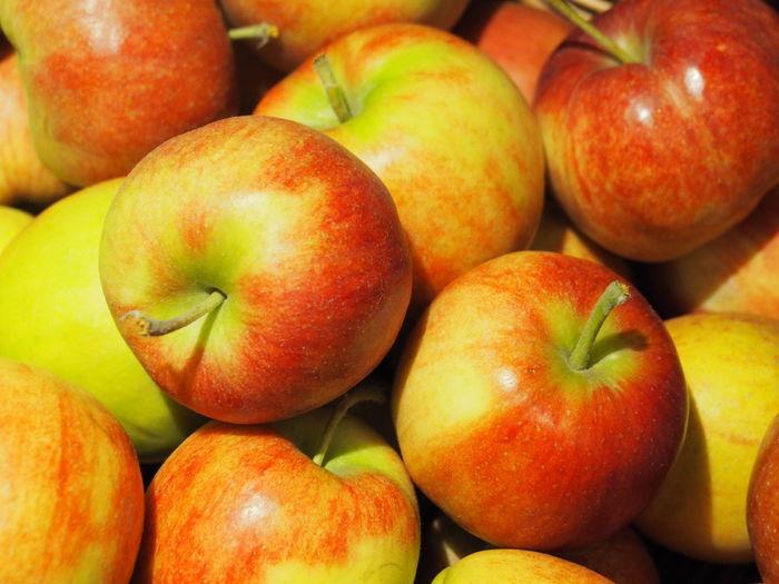 Full frame shot of apples at market