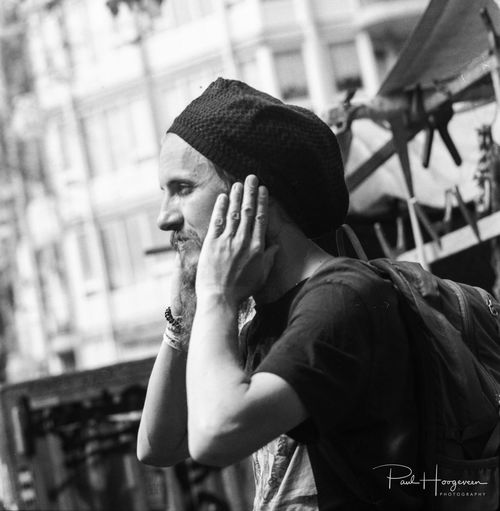 Candid of man @ Waterlooplein (Amsterdam) 120 Film Amsterdam Fashion Film Hanging Out Man B&w Blackandwhite Bw Candid Cap Close-up Day Holland Kowasix Lifestyles Mediumformat Monochrome One Person Outdoors People Portrait Real People Standing Young Adult