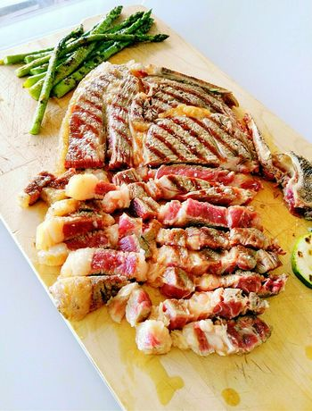 Food And Drink Freshness Close-up Ready-to-eat Healthy Eating Meat! Meat! Meat! Steaks Ribeye Steak Serving Size Temptation Meal Plate Food Home Cooked