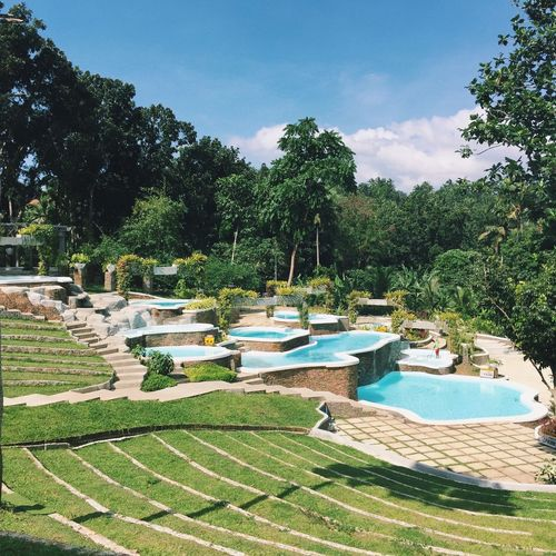 Shercon Resort and Ecological Park in Batangas, Philippines Swimming Pool Water Day Outdoors Sky Nature No People Tree Growth Tranquility Tranquil Scene Beauty In Nature Green Color Scenics Grass First Eyeem Photo