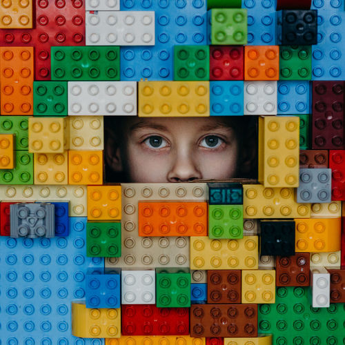 EyeEm Best Shots EyeEm Gallery LEGO Portraits The Week On EyeEm Boy Child Close-up Colorful Human Eye Human Face Indoors  Looking At Camera Multi Colored One Person People Portrait Puzzle  Toy Block Young Adult
