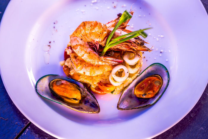 Fine Dining Cuisine Close-up Day Fine Dining Food Food And Drink Freshness Green Mussels Healthy Eating Indoors  No People Plate Prawns Ready-to-eat Seafood Serving Size