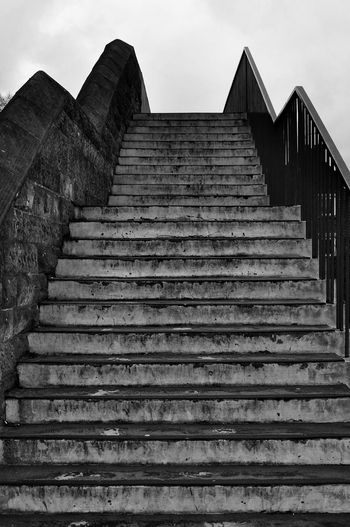 Going up the stairs. Beautifully Organized Steps Staircase Steps And Staircases Low Angle View Sky Built Structure Outdoors Architecture History Day No People Cloud - Sky Chester Walls Chester Eye4photography  Stone Steps Getty X EyeEm EyeEm Historical Place EyeEm Gallery Black & White EyeEm Best Shots Symmetrical EyeEm Masterclass