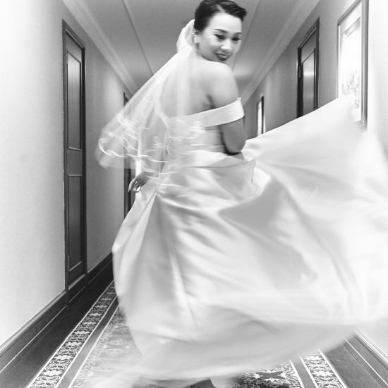 Action Action Shot  Action Shots Beautiful Woman Beauty Bride Bride Dress Day Dress Happy Happyness Indoors  Lifestyles One Person Smiling Standing Wedding Ceremony Wedding Day Wedding Dress Wedding Dresses Wedding Party Wedding Photography Wedding Photos Young Adult Young Women