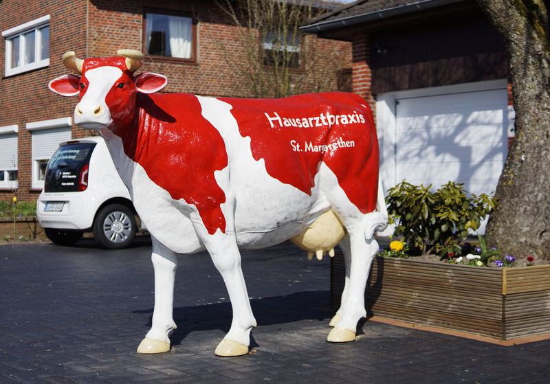 Advertising Cow Friesisch Sculpture