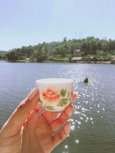 Myself Nature Human Hand Hand Water One Person Holding Lake My Best Photo Nature
