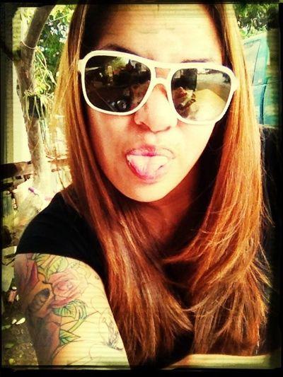 Chillin.... #playinaround #funnyace #shades #tattoos #rainyday #bored #lateupload