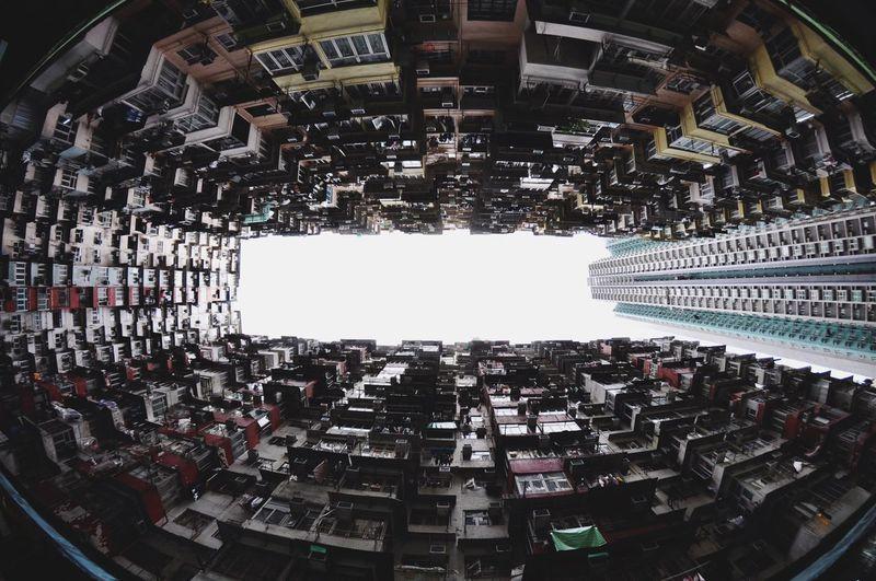 圧巻 Tokina Nikond90 Fisheye HongKong Bilding Streetphotography Travelphotography Travel 鰂魚涌巨廈 Architecture Day Cityscape No People