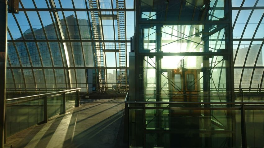 Trainstation Amsterdam Sloterdijk Sunrise Early Morning Earlybird Love To Travel By Train Trainstations Architecture City No People Beautiful Day Day Morning Light Morningsun Industrial Photography