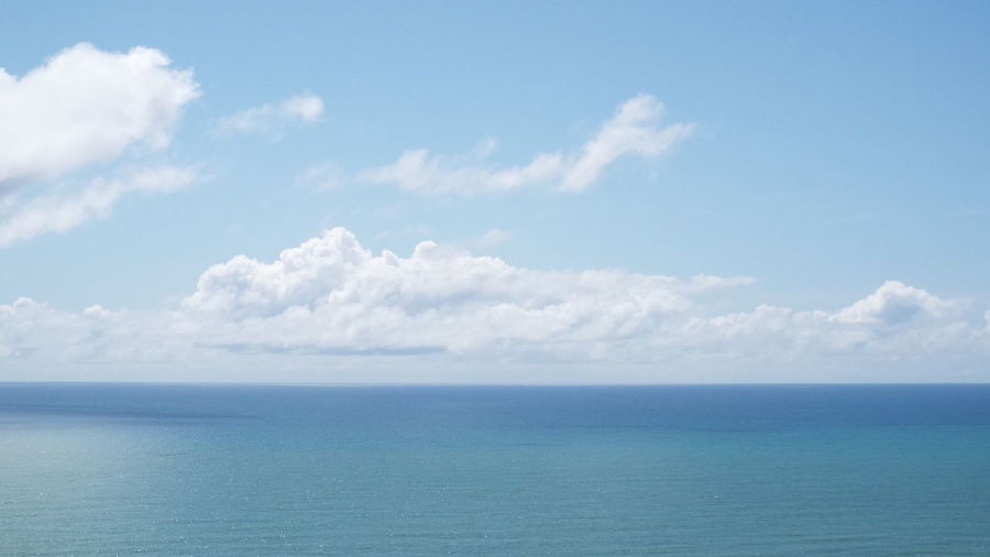 Sky Sea Horizon Over Water Horizon Scenics - Nature Beauty In Nature Cloud - Sky Tranquility Water Tranquil Scene Blue Nature Day No People Idyllic Seascape Waterfront Outdoors Non-urban Scene Turquoise Colored