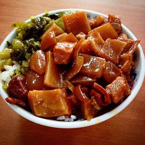 very delicious !! 苗栗 南庄 Taiwan 豬皮飯 松鶴小吃 taiwanfood