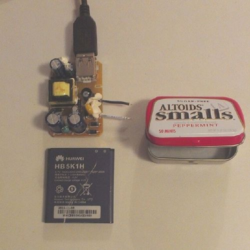So, yeah...I messed this one up. :-/ the board is bigger than the altoids tin. I didn't even bother to check. >_< At least it works. #diyusb #diycharger Tech DIY Electronics  Doityourself Crafty Diyusb Diycharger Techgirl