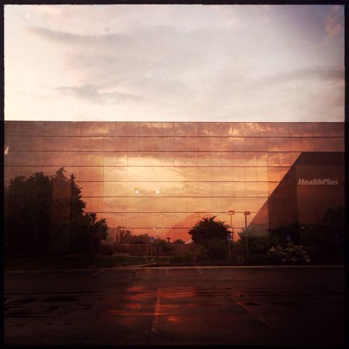 Sunset reflecting off my workplace. Sunset Outdoors Michigan Hipstamatic Hipstamaticonly Hipstamaticaddicts At Work Work