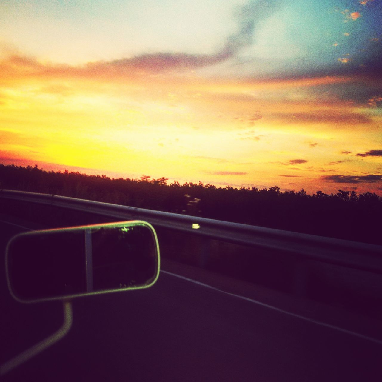 sunset, sky, transportation, cloud - sky, scenics, road, nature, no people, landscape, beauty in nature, tree, outdoors, day