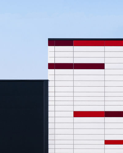 Archidetail Minimalism Minimalist Photography  Fujix_berlin Ralfpollack_fotografie Architecture Blue Built Structure No People Wall - Building Feature Day Building Exterior Outdoors White Color Copy Space Red City Building Sky Pattern