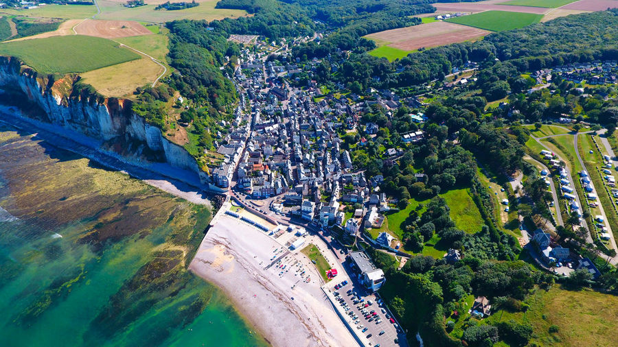 Aerial Shot Aerial View City Cliffs Day Falaises France Landscape Normandie Normandy Photo Aérienne Tourism Ville YPort Yport Normandie