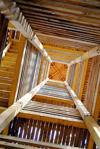Pattern No People Low Angle View Wood - Material Built Structure Close-up Architectural Feature Hungary Staircase Directly Below Viewpoint First Eyeem Photo Autumn Mood