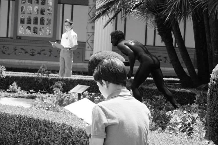 Check This Out Relaxing Taking Photos People People Watching Drawing Sketching Landscape Landscape_photography Tranquility Nature Beauty In Nature Day Outdoors Garden Statue Green Courtyard  Gettyvilla Getty Villa at Pacific Palisades , California
