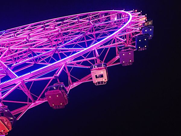 Childhood Ferris Wheel Night  Outdoors Colorful Best  Beauty In City