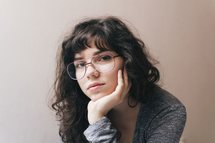 Portrait One Person Headshot Eyeglasses  Young Adult Hairstyle Glasses Hair Indoors  Looking At Camera Beauty Young Women